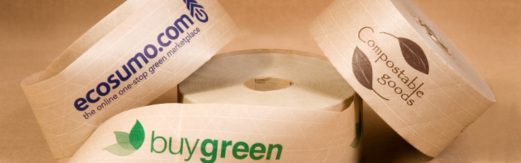 eco friendly custom printed water activated tape green packaging group